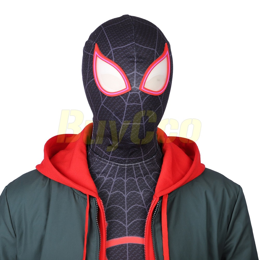 Spiderman Into the Spider-Verse Miles Morales Full Set Costume Cosplay Halloween