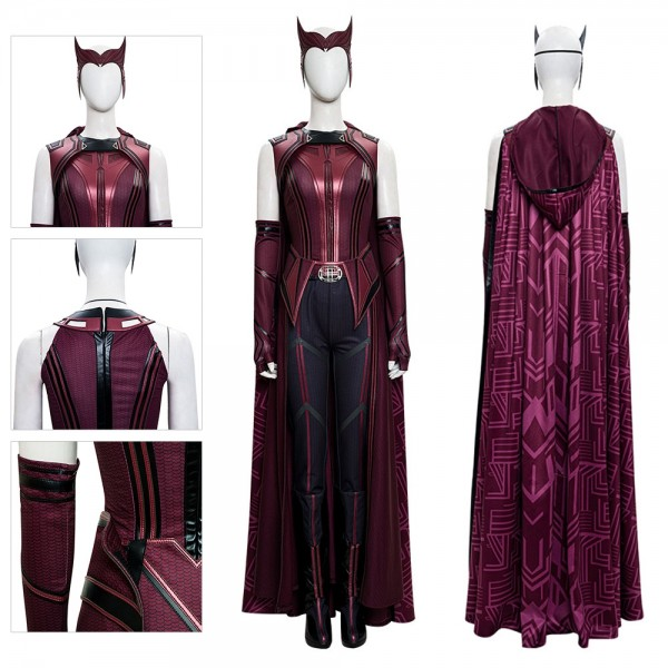 2021 WandaVision Cosplay Costume Wanda Scarlet Witch Cosplay Suit