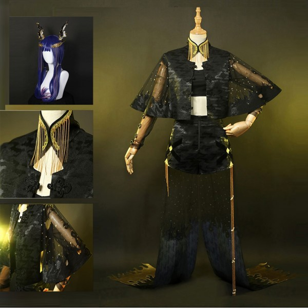 Arknights Cosplay Costume Chen Costume Dressing Up Suit