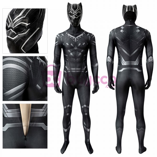 Black Panther Spandex Cosplay Costume T'challa Black Panther Cosplay Suit