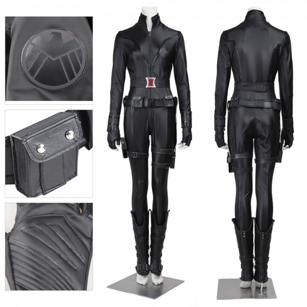Black Widow Agents Cosplay Costumes Black Shield Suit