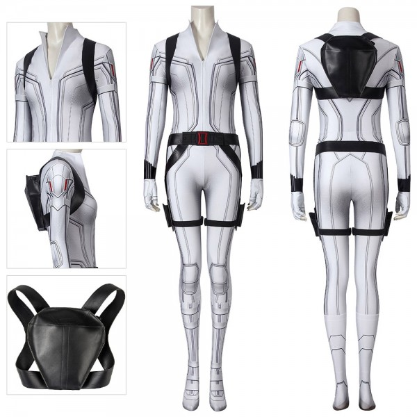 Black Widow White Cosplay Costumes 3D Printed Cosplay Suit