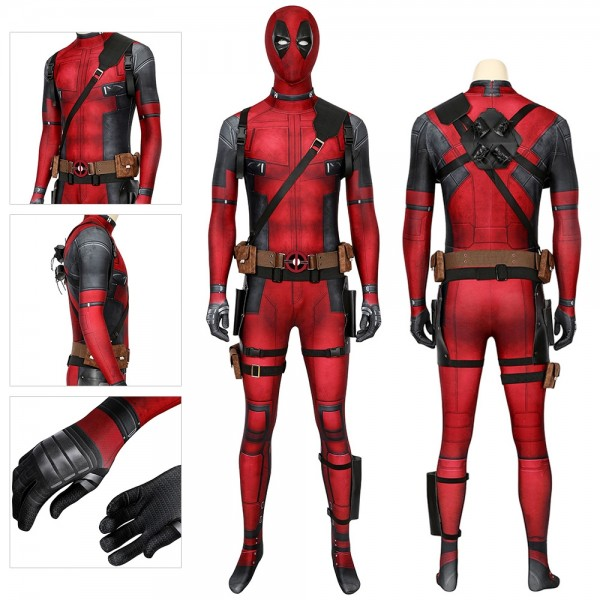 Deadpool Cosplay Costumes HQ Printed Spandex Deadpool Suit For Halloween Cosplay