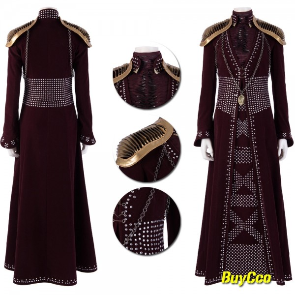 Game of Thrones Cersei Lannister Cosplay Costume Xzw19060502