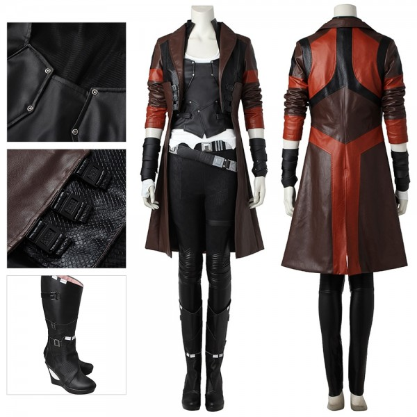 Gamora Cosplay Costume Ver.2 Faux Leather Suit