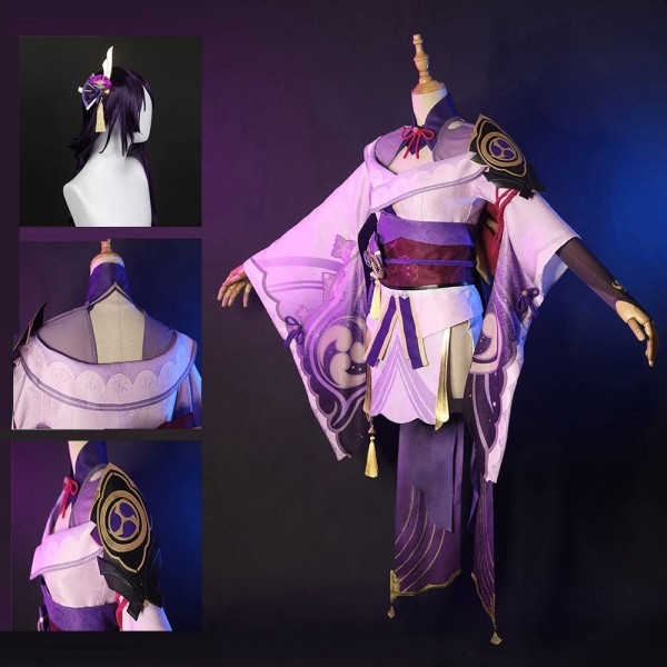 Genshin Impact Cosplay Costume Electro Archon Baal Cosplay Suit