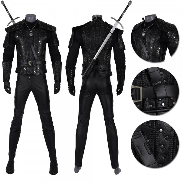 Geralt Cosplay Costumes The Witcher TV Drama Series Suit Xzw190293