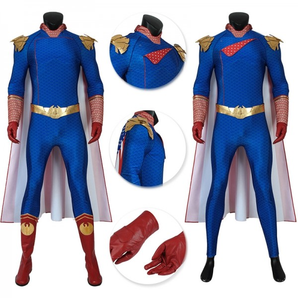 Homelander Cosplay Costume The Boys S1 Cosplay Suits W4490
