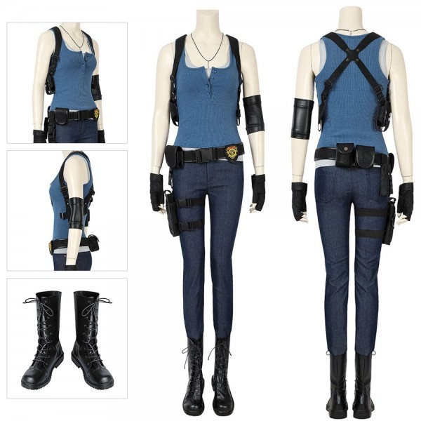 Jill Costumes Resident Evil 3 Remake Cosplay Suit Deluxe Edition