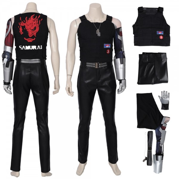 Johnny Silverhand Costume Cyberpunk 2077 Cosplay Suits Xzw190297
