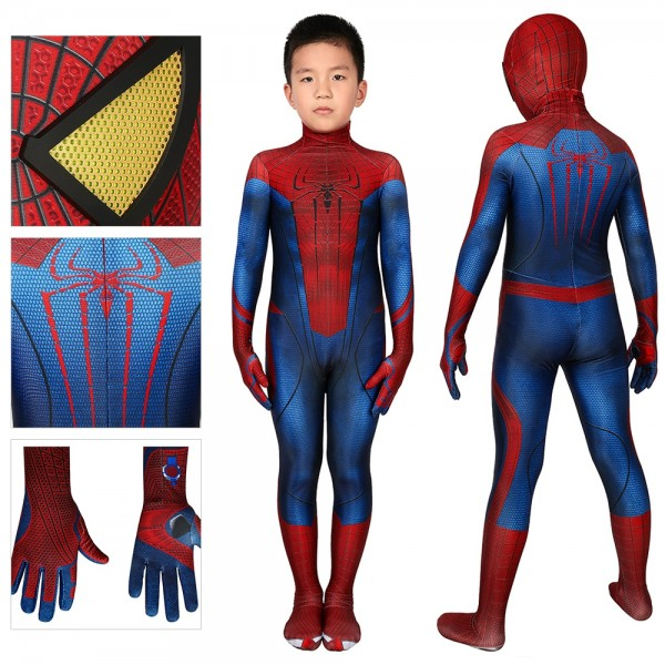 Kids Spider-man Cosplay Suit The Amazing Spider-Man Cosplay Costume