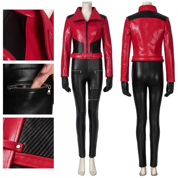 Legion Naomi Brooke Cosplay Costumes Watch Dogs Red Suit