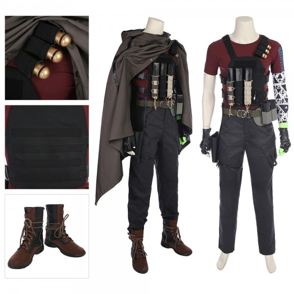 Nathan Summers Cable Cosplay Costume Deadpool Costumes xzw1800140