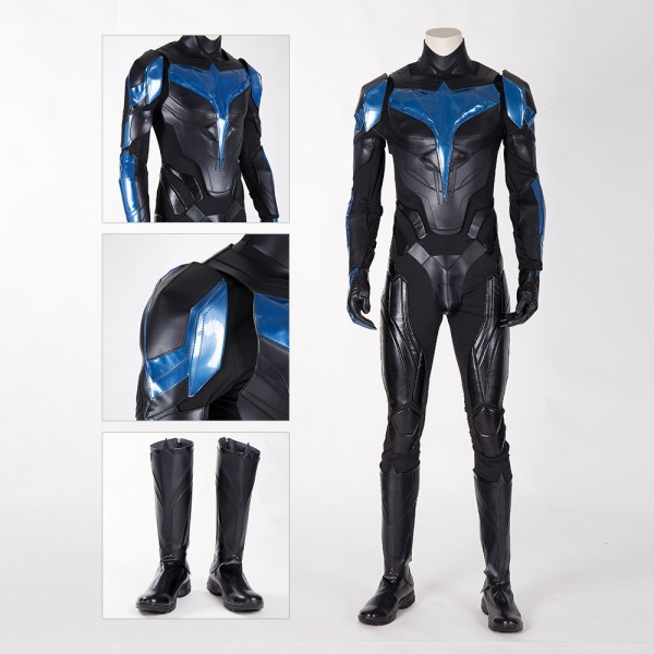 Nightwing Cosplay Costume Titans S1 Nightwing Cosplay Suit Leather Edition