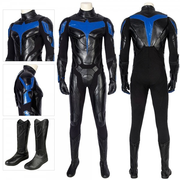 Nightwing Cosplay Costumes Titans Season 1 Dick Grayson Cosplay Suit