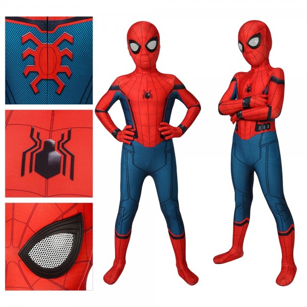 Kids Suit Spider-man Homecoming Cosplay Costume