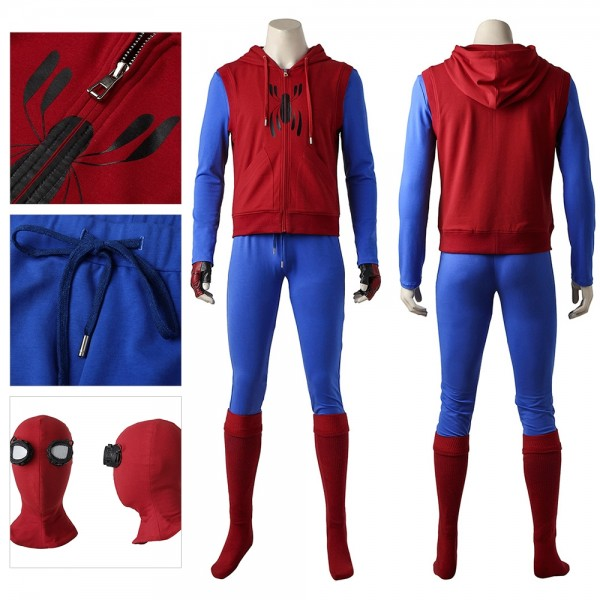 Spider-man Ver.2 Cosplay Costume Spiderman Homecoming Cotton Fabric Suit