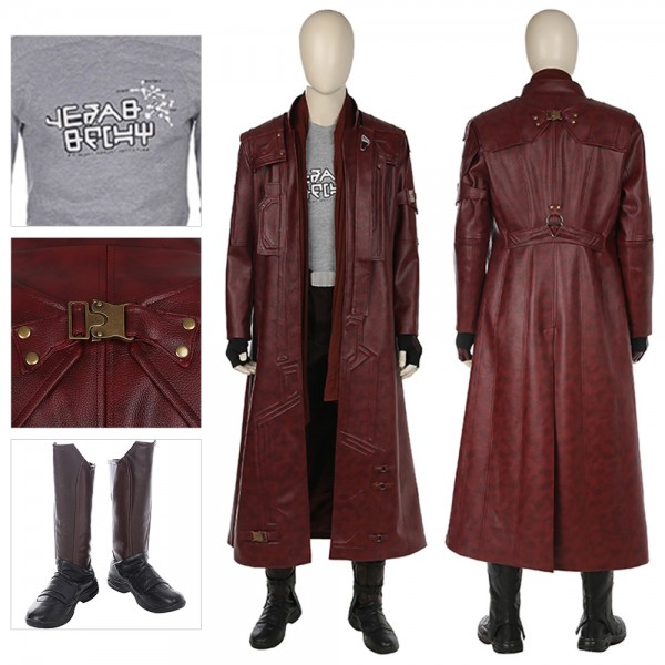 Star Lord Cosplay Costume Guardians Of The Galaxy Trench Coat