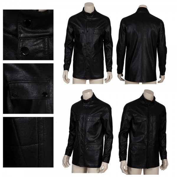The Terminator Cosplay Suit Artificial Leather Top Level Costume