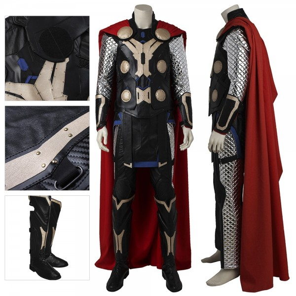 Thor Cosplay Costume Artificial Leather Top Level Suit