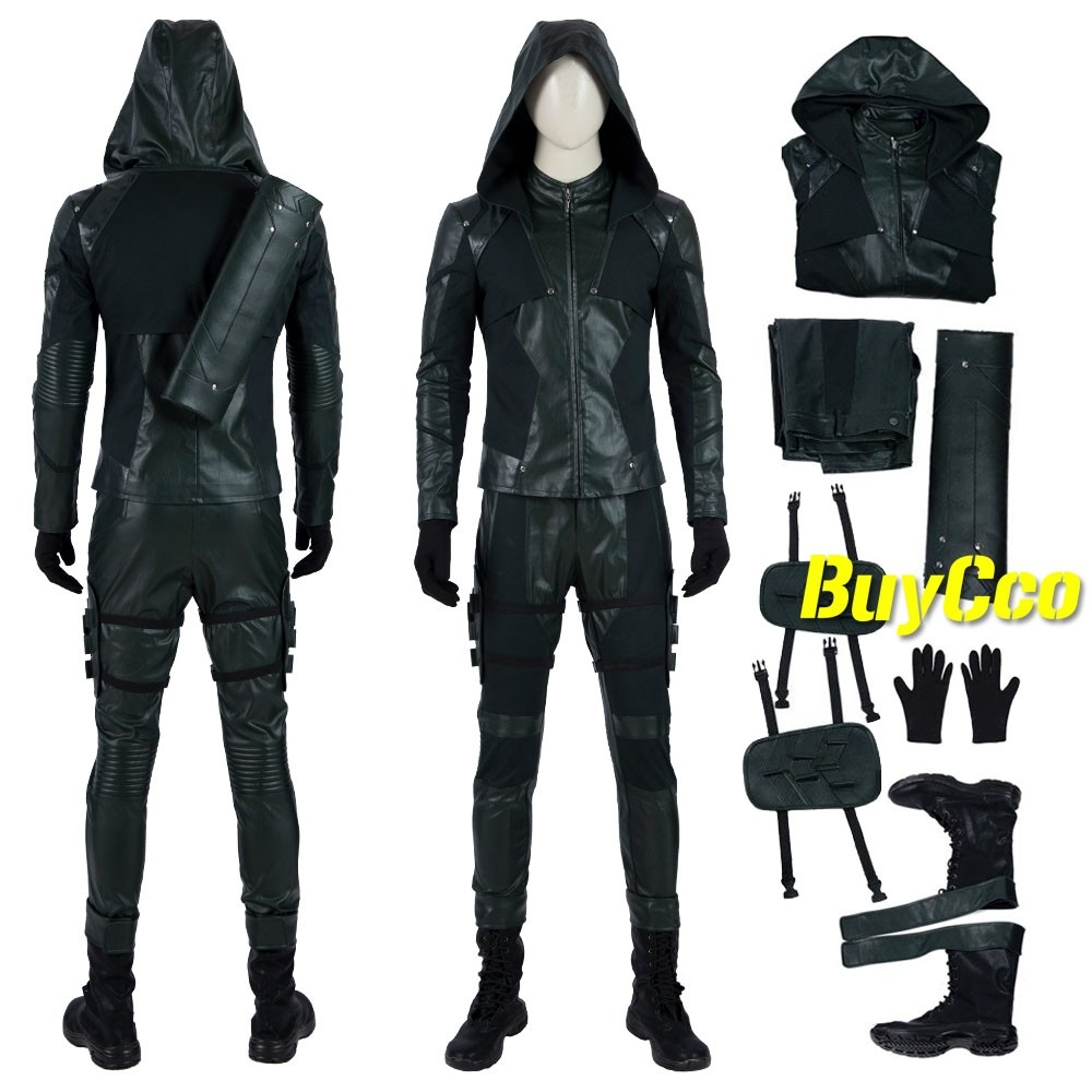 Details about  /Green Arrow 8 Oliver Queen Cosplay Costume Men Combat Uniform Outfits